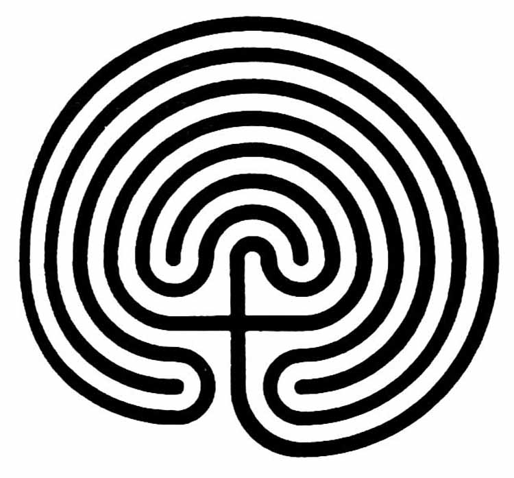 Versatile image intended for finger labyrinth printable