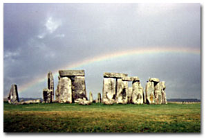 Stonehenge with Rainbow